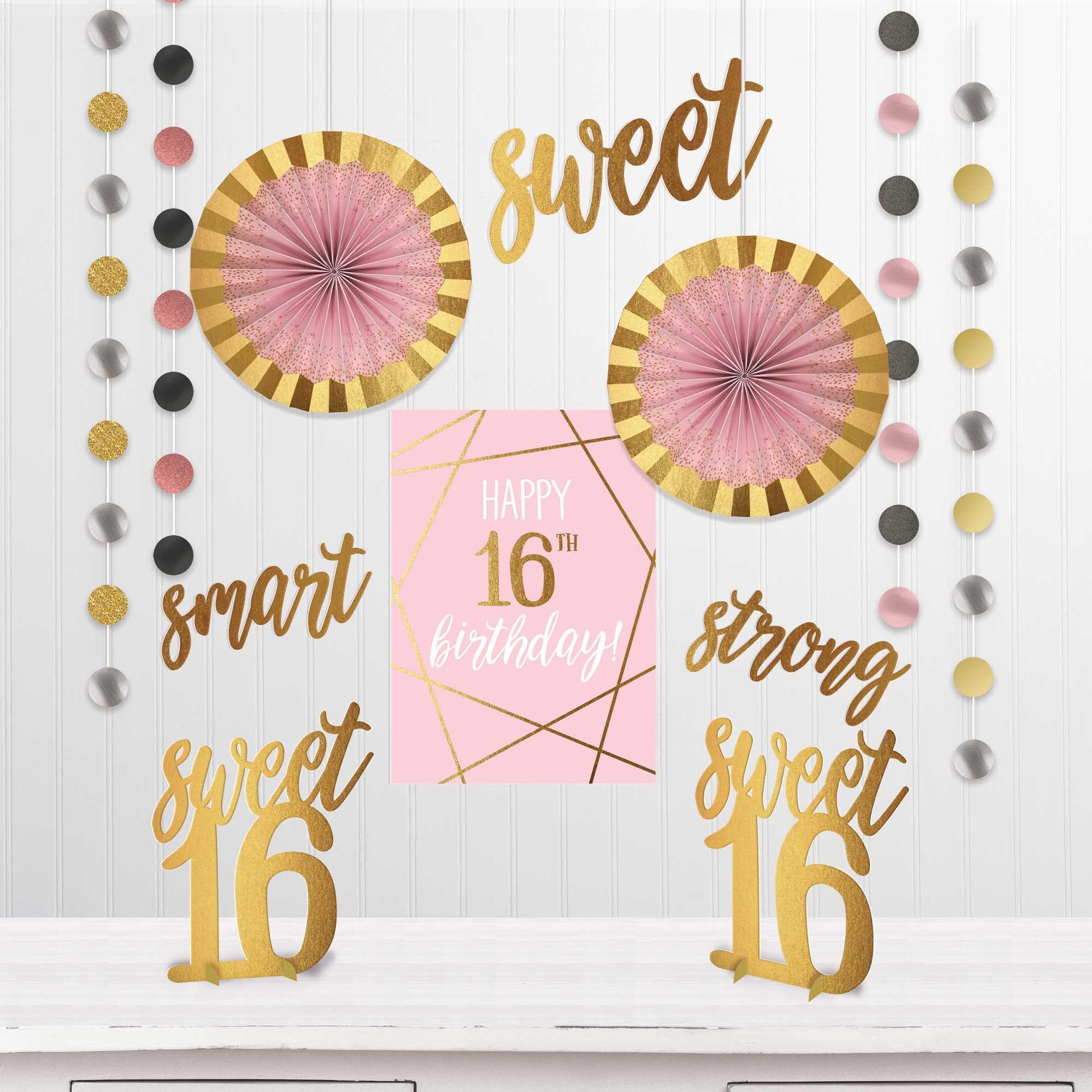 Elegant Sixteen Blush Room Decorating Kit