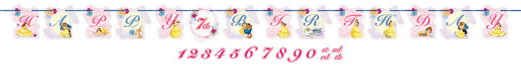 Beauty and the Beast Ribbon Banner