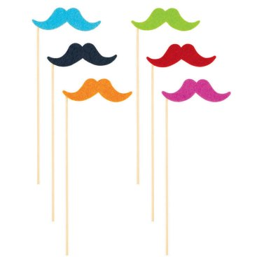 Fiesta Moustache On Stick Multi