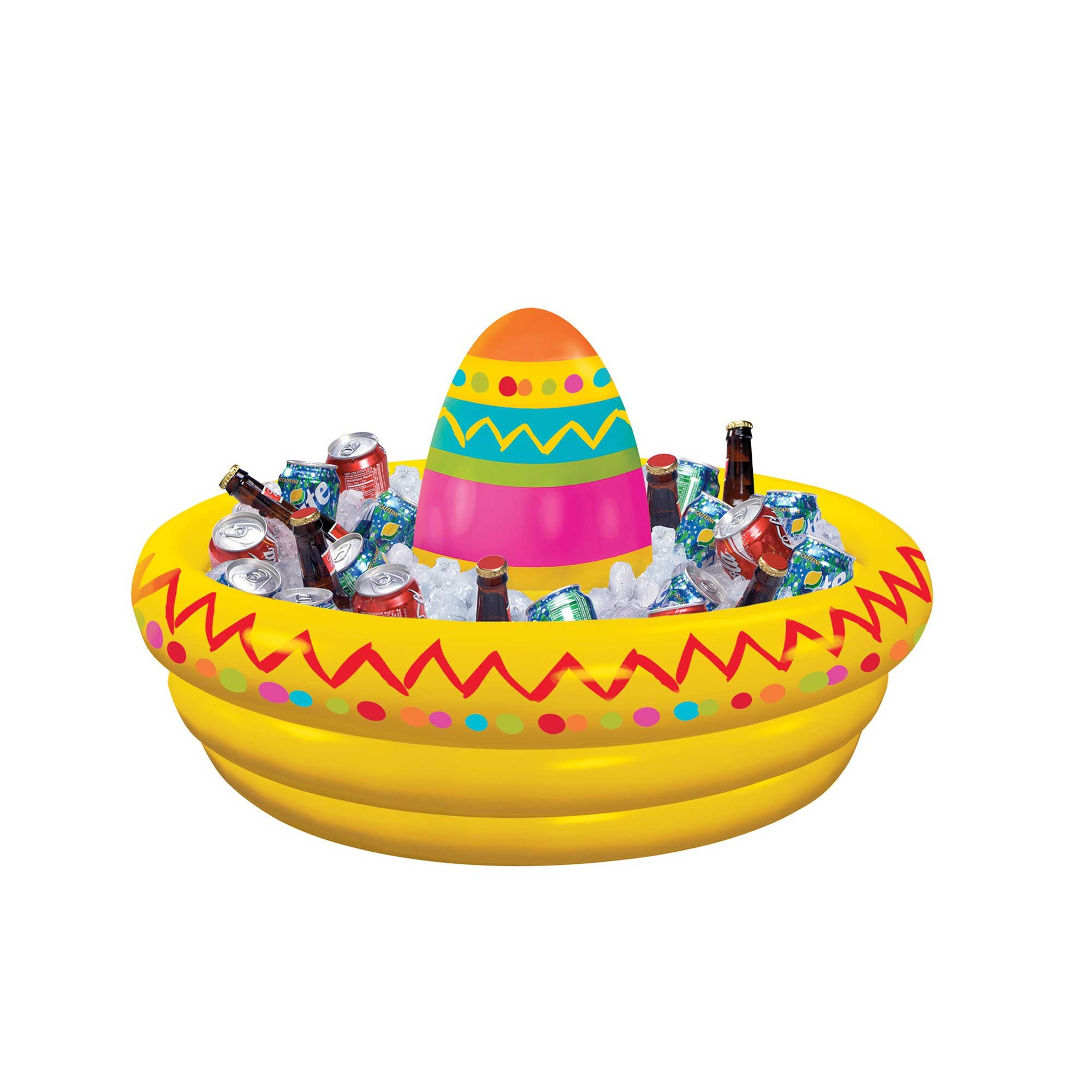 Fiesta Inflatable Sombrero Drink Cooler