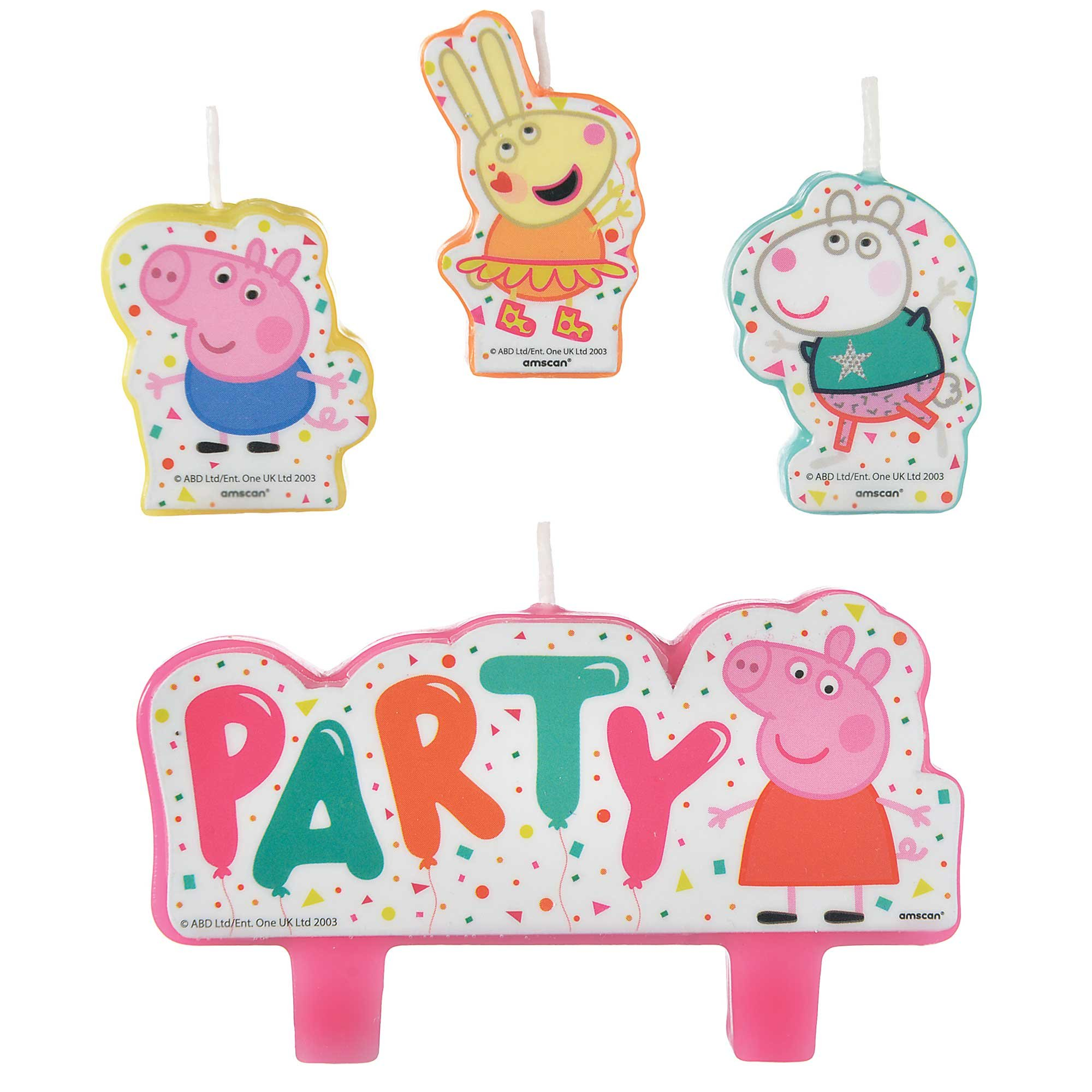 Peppa Pig Confetti Party Candle Set