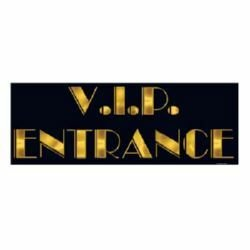 Awards Night VIP Entrance Sign Black & Gold