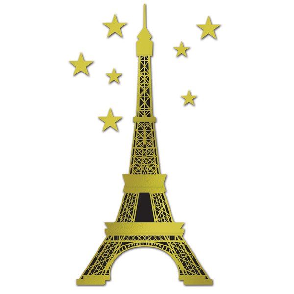Eiffel Tower Gold & Black Jointed Cutout
