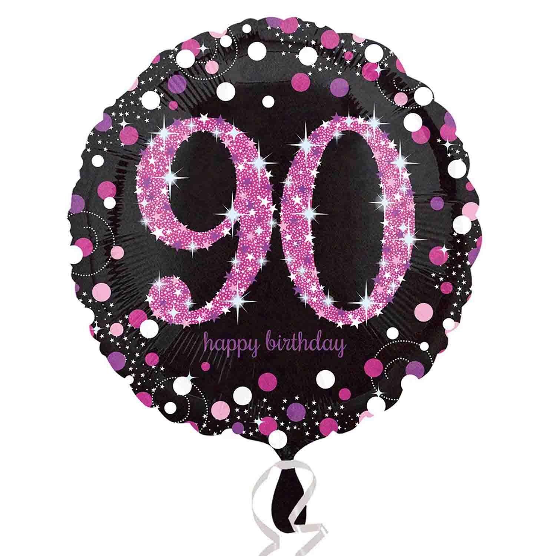 45cm Standard Holographic Pink Celebration 90 S55