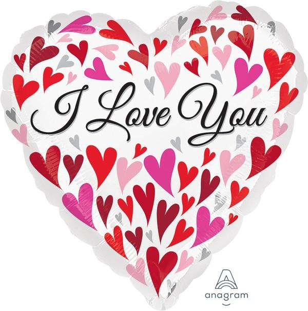 45cm Standard HX I Love You Happy Hearts S40