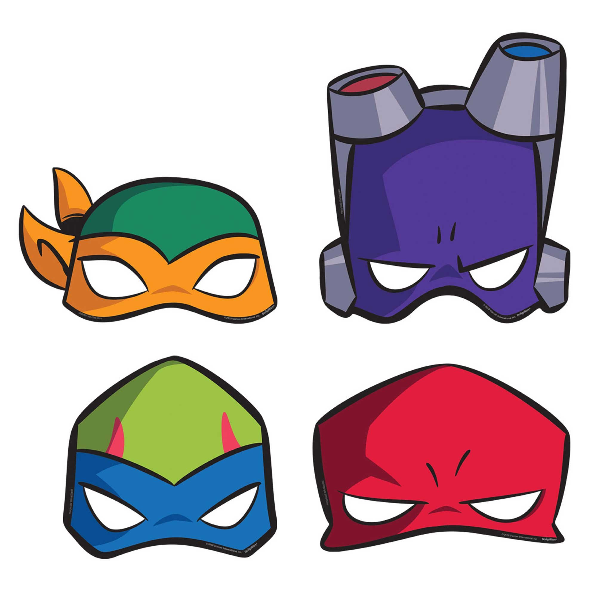 Rise of the Teenage Mutant Ninja Turtles Paper Masks