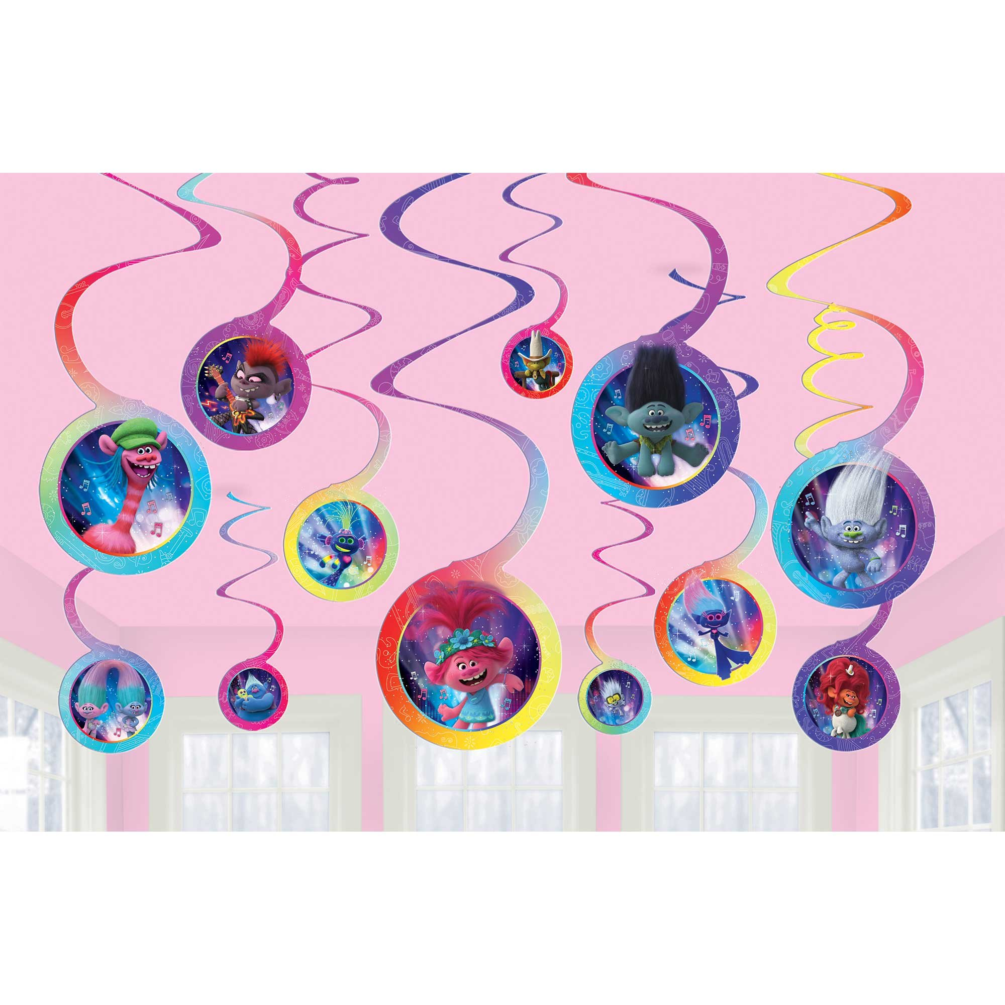 Trolls World Tour Spiral Hanging Swirl Decorations Value Pack