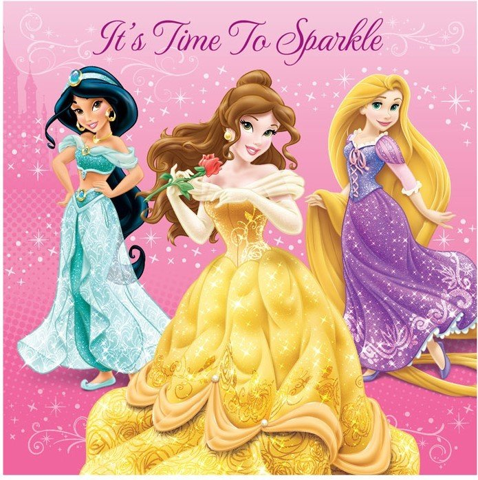 Disney Princess Sparkle Lunch Napkins