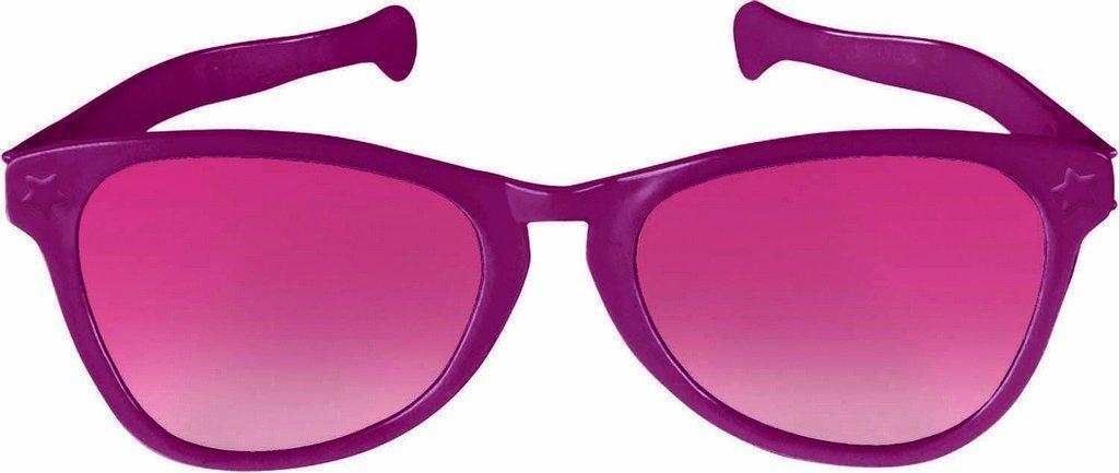Jumbo Glasses - Burgundy