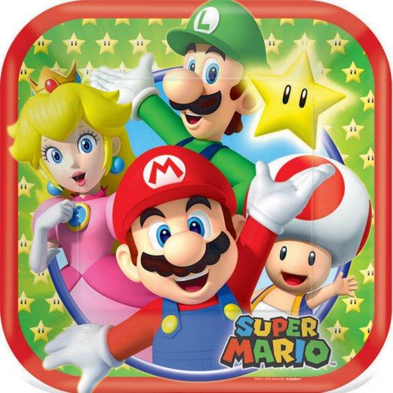 Super Mario Brothers 17cm Square Plates