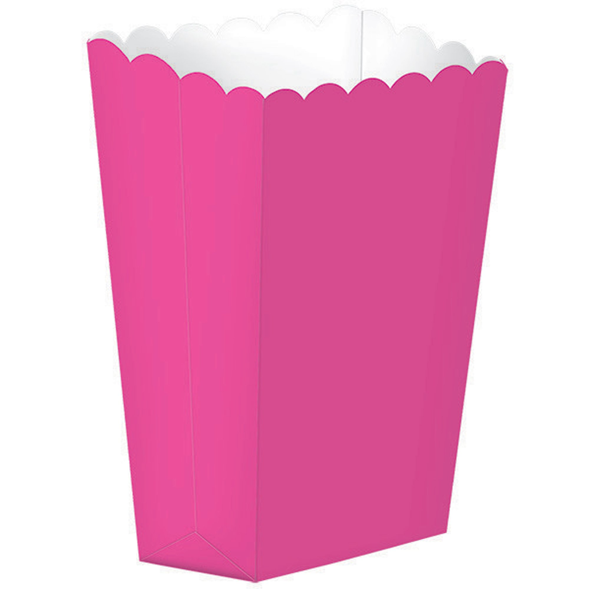 Popcorn Favor Boxes Small Bright Pink