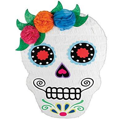 Sugar Skull Day of the Dead Shaped Pinata
