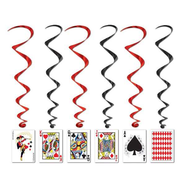 Playing Cards Hanging Decoration Whirls