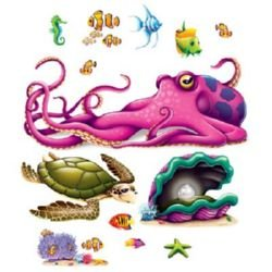 Sea Creatures Wall Decorations Insta-Theme Props
