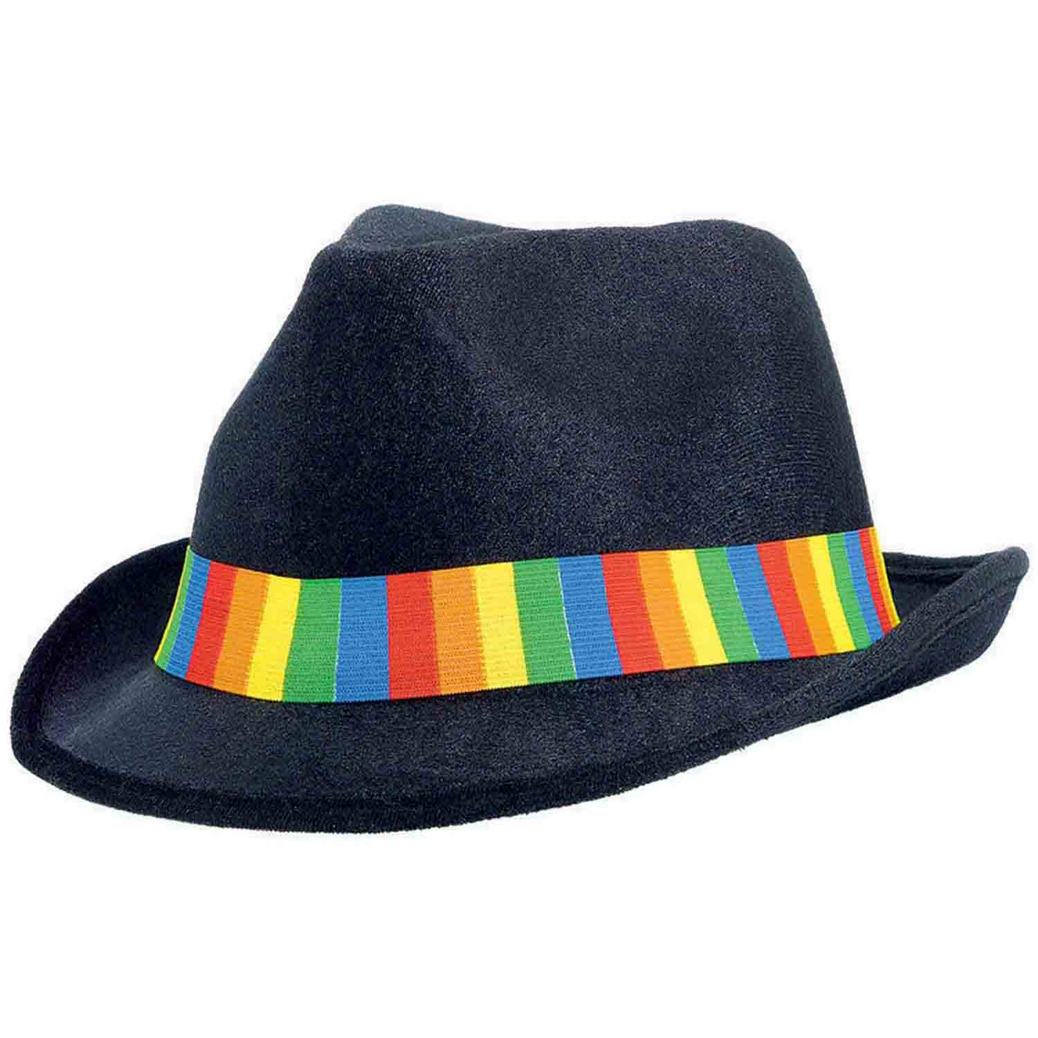 Fedora Velour Hat  - Rainbow