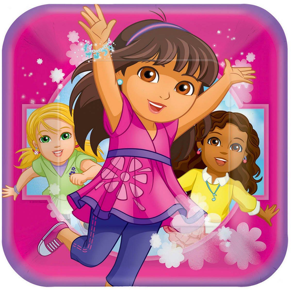 Dora and Friends 23cm Square Plates