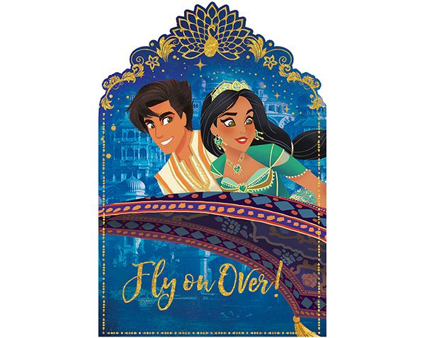 Aladdin Postcard Invitations