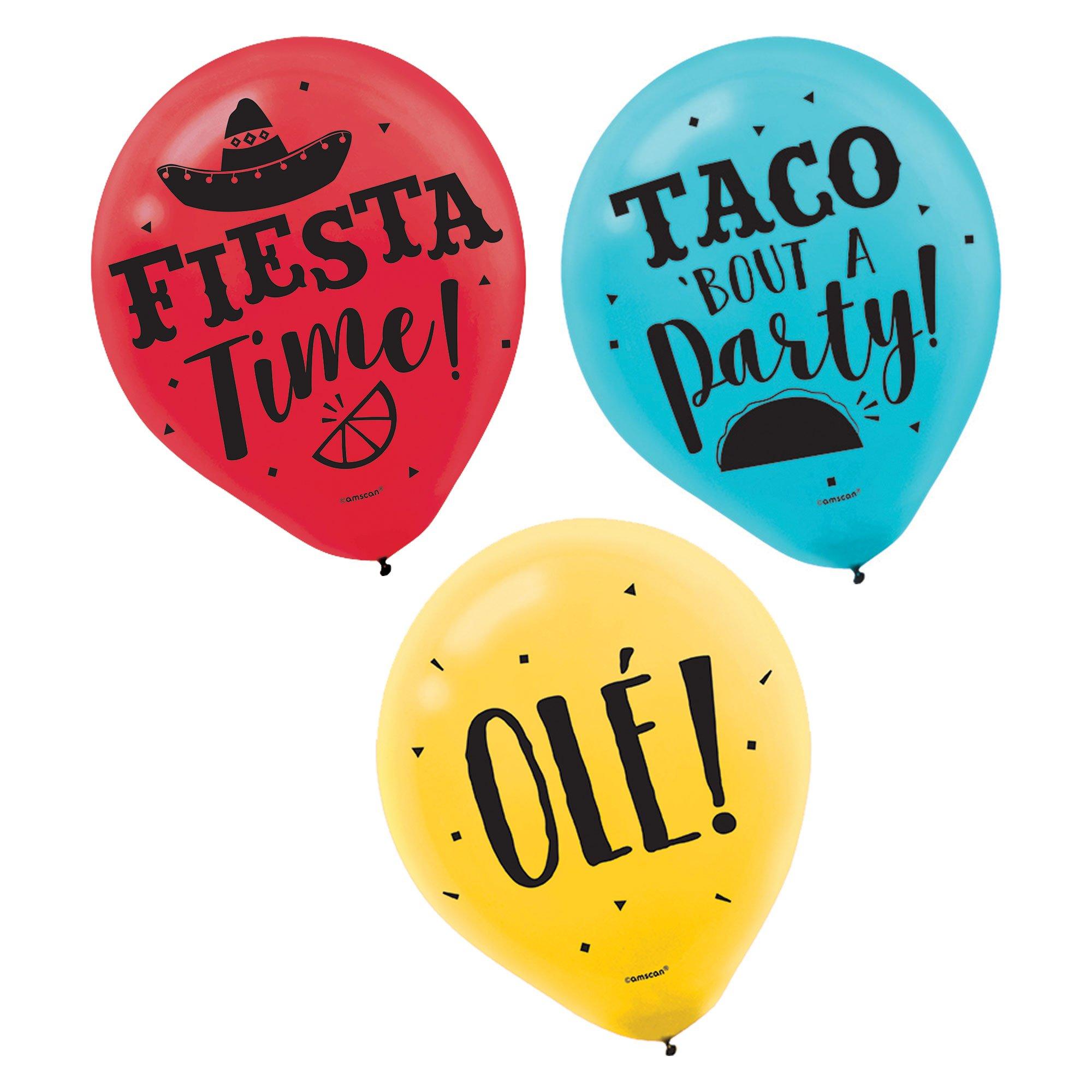 """Fiesta 12"""" / 30cm Assorted Latex Balloons"