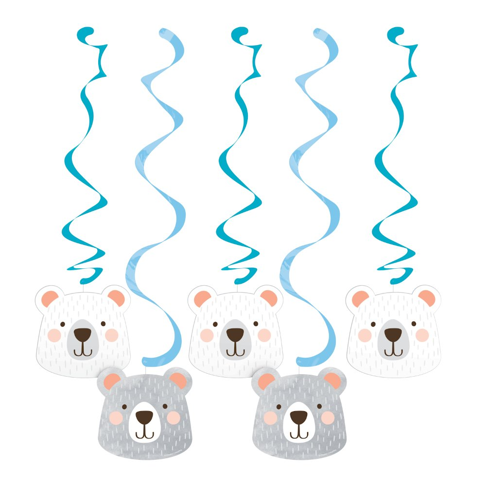 1st Birthday Bear Dizzy Danglers Hanging Swirls