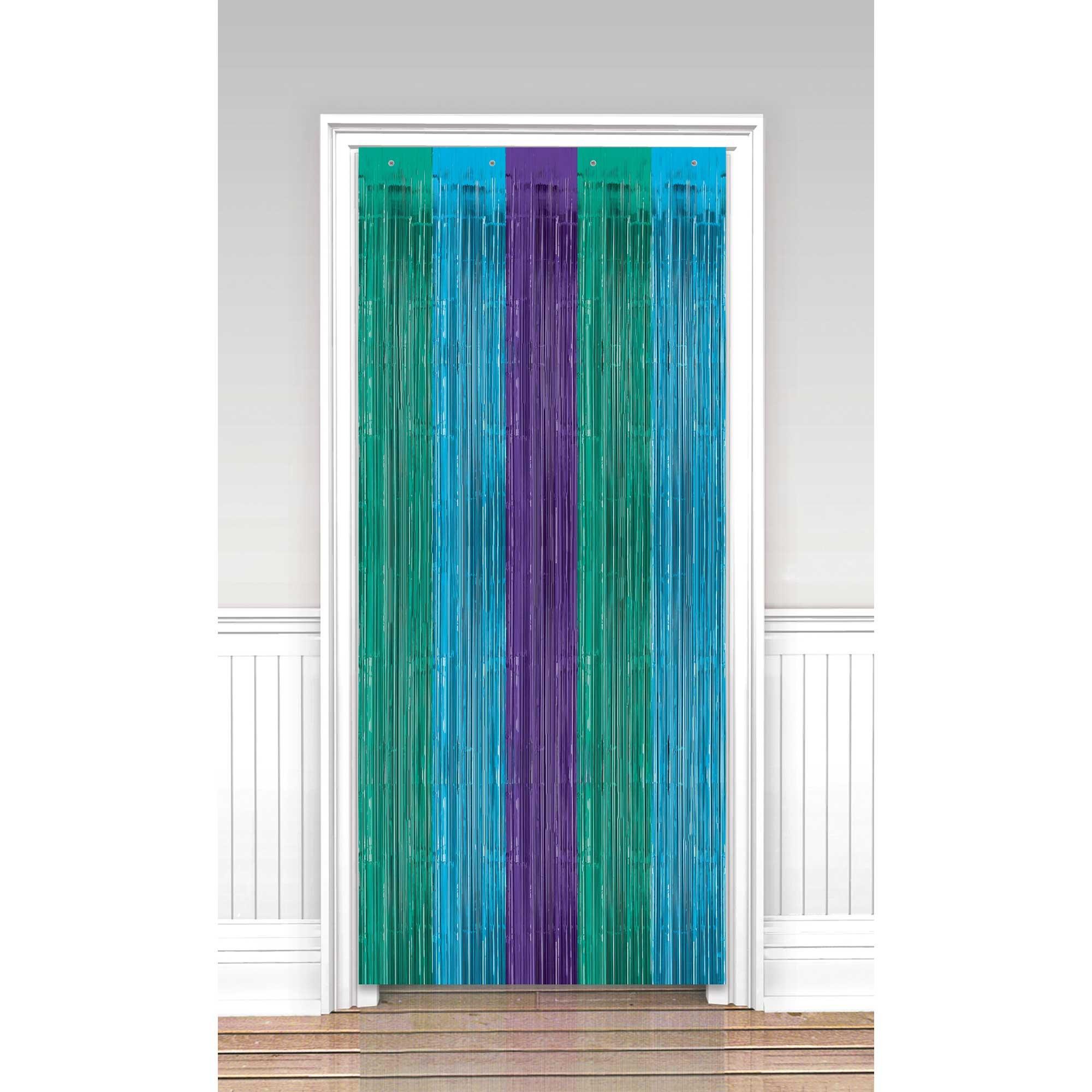 Sparkling Sapphire Metallic Door Curtain