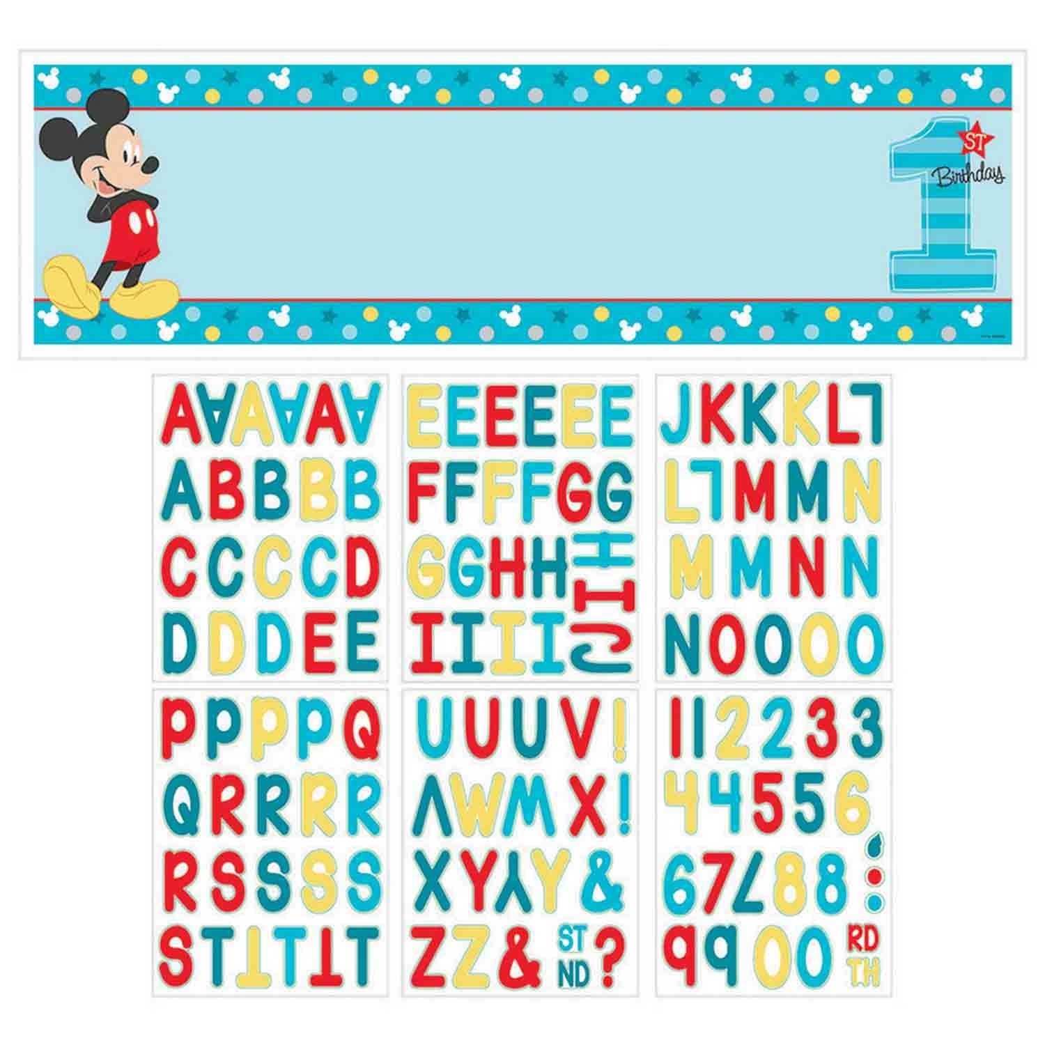 Mickey Fun To Be One Personalized Giant Banner Kit