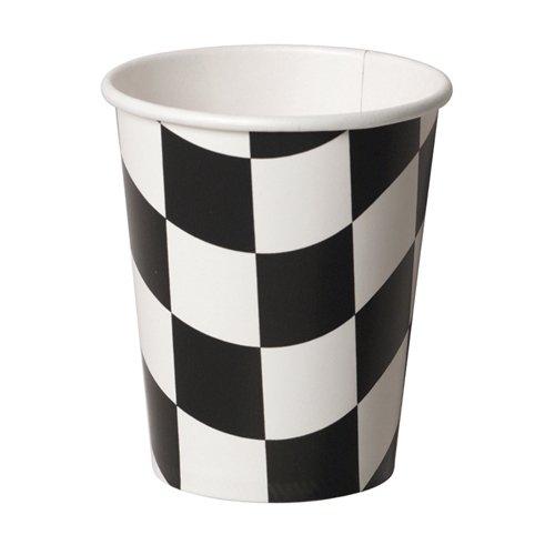 Black & White Check Cups Paper 266ml