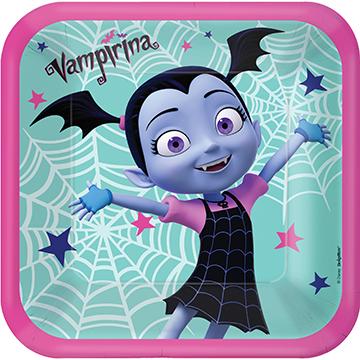 """Disney Vampirina 9"""" / 23cm Square Paper Plates"