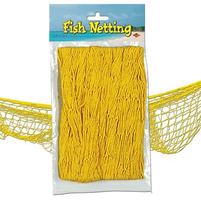 Fish Netting Decoration Yellow