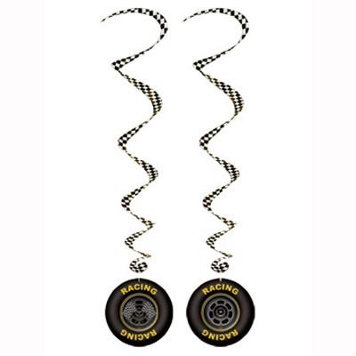 Racing Car Tyres Hanging Decoration Whirls