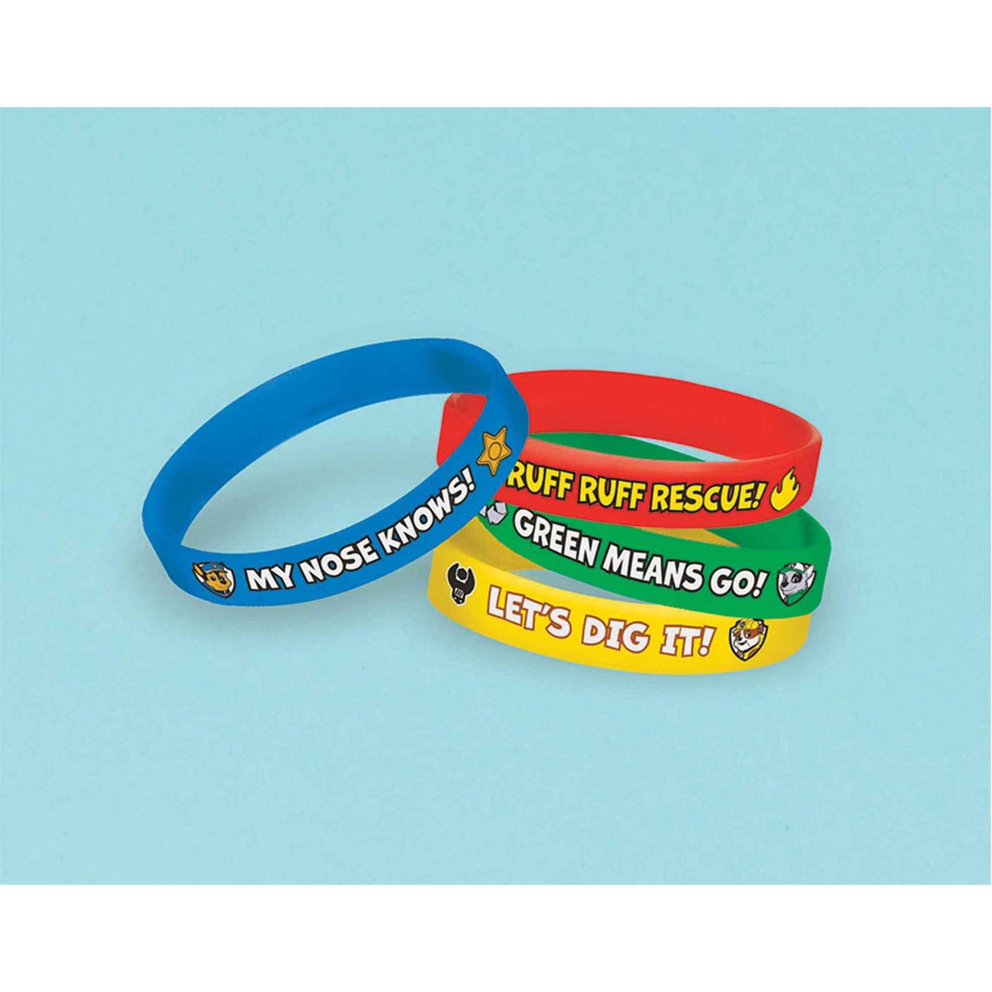 Paw Patrol Rubber Bracelet Favor