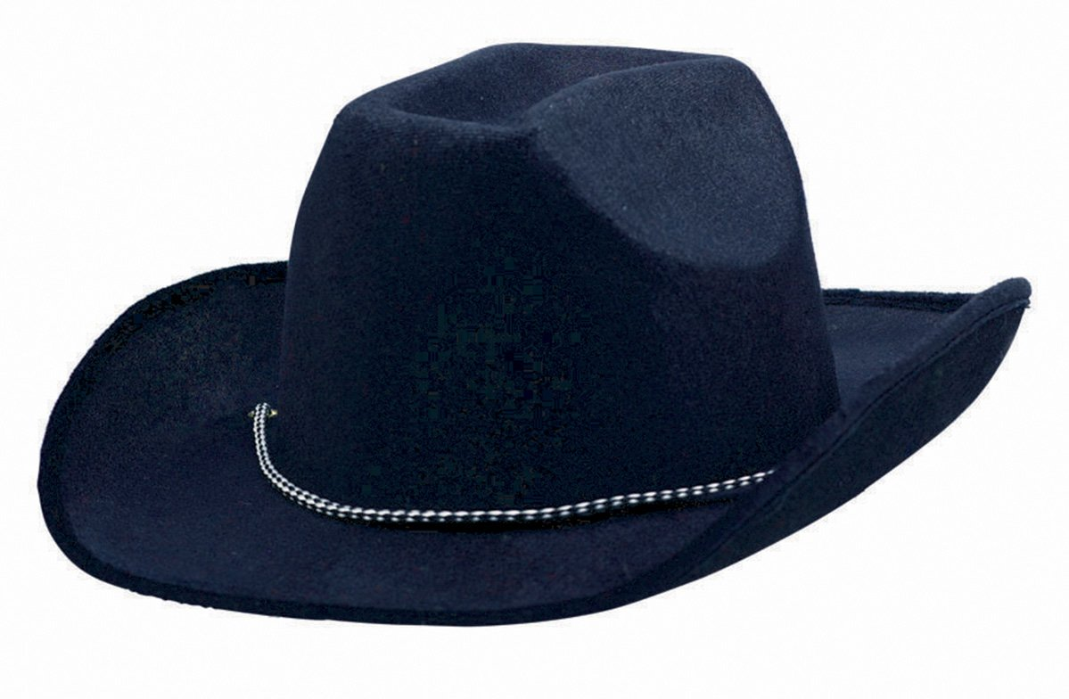 Cowboy Velour Hat - Black