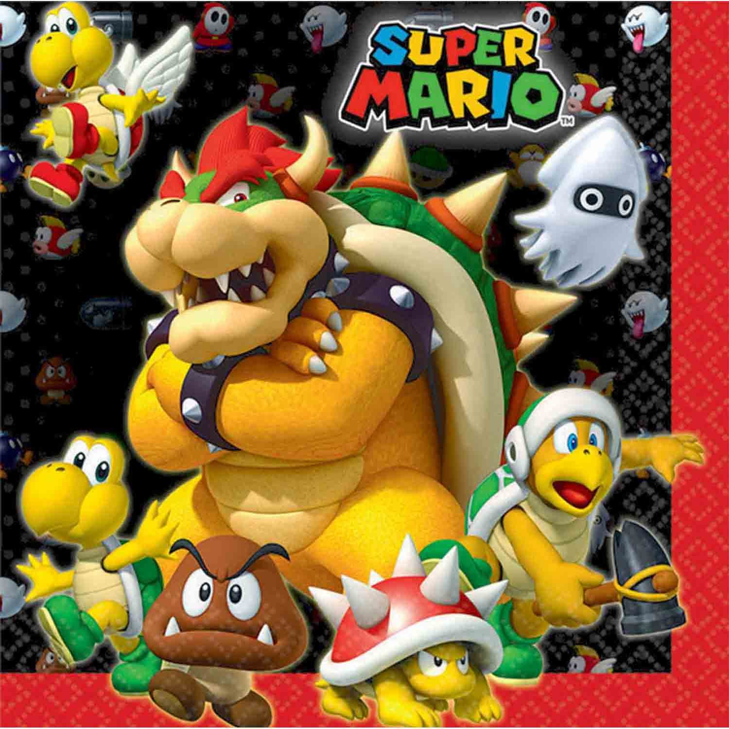 Super Mario Brothers Lunch Napkins