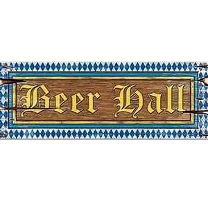 Cutout Beer Hall Sign