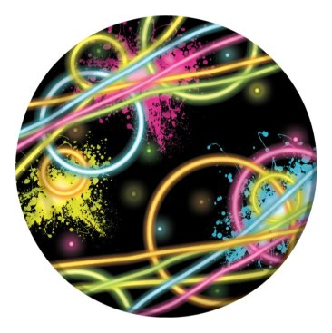 Glow Party Lunch Plates 18cm Round