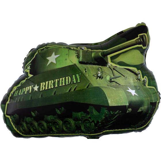 SuperShape XL Army Tank Happy Birthday P30