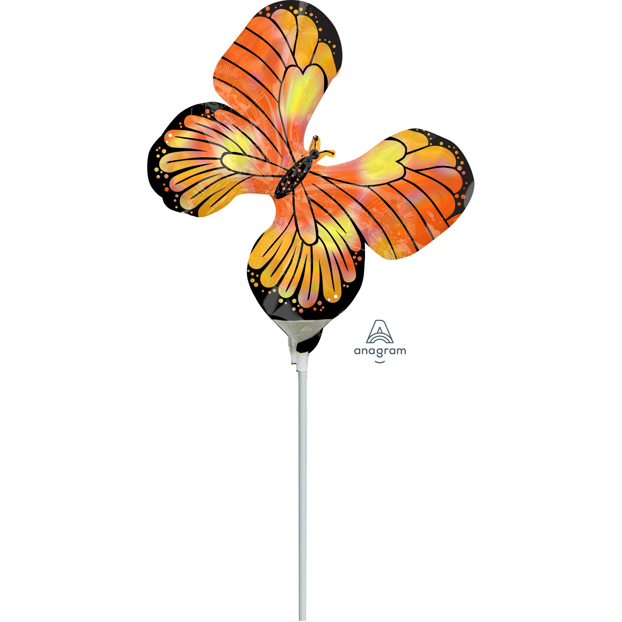 Mini Shape Holographic Iridescent Monarch Butterfly A30