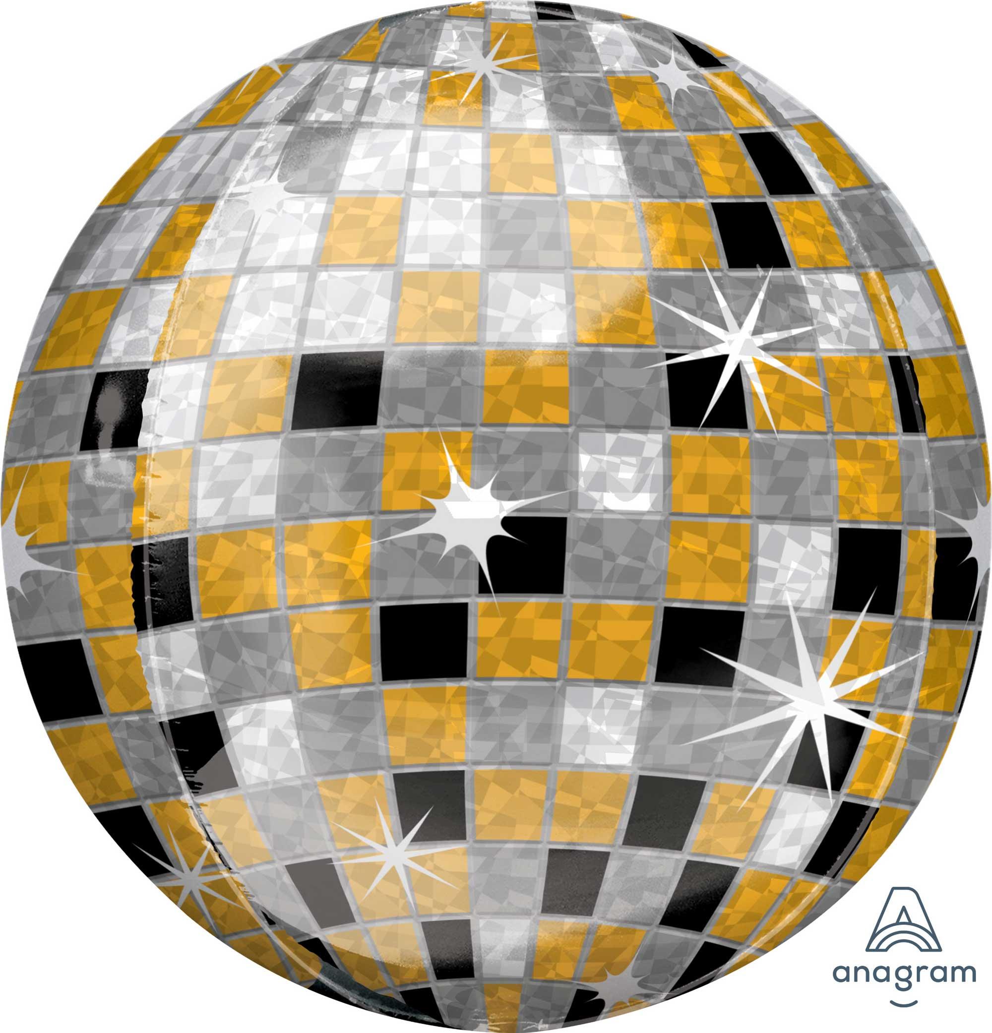 Orbz XL Gold, Silver & Black Disco Ball G20