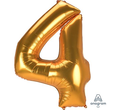 SuperShape Jumbo Number 4 Gold 91cm x 137cm L53