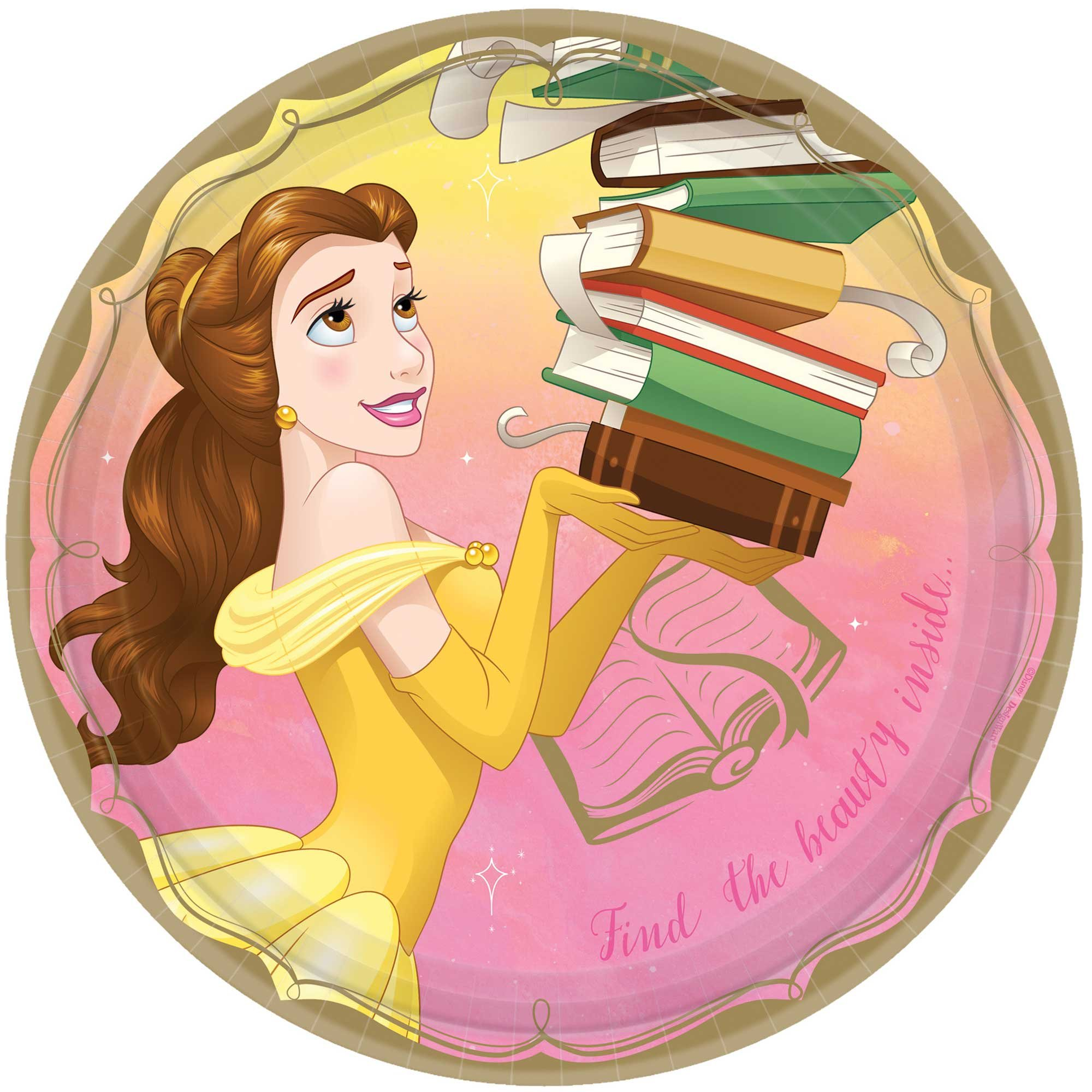 """Disney Princess Once Upon A Time 9""""/ 23cm Plates Belle"