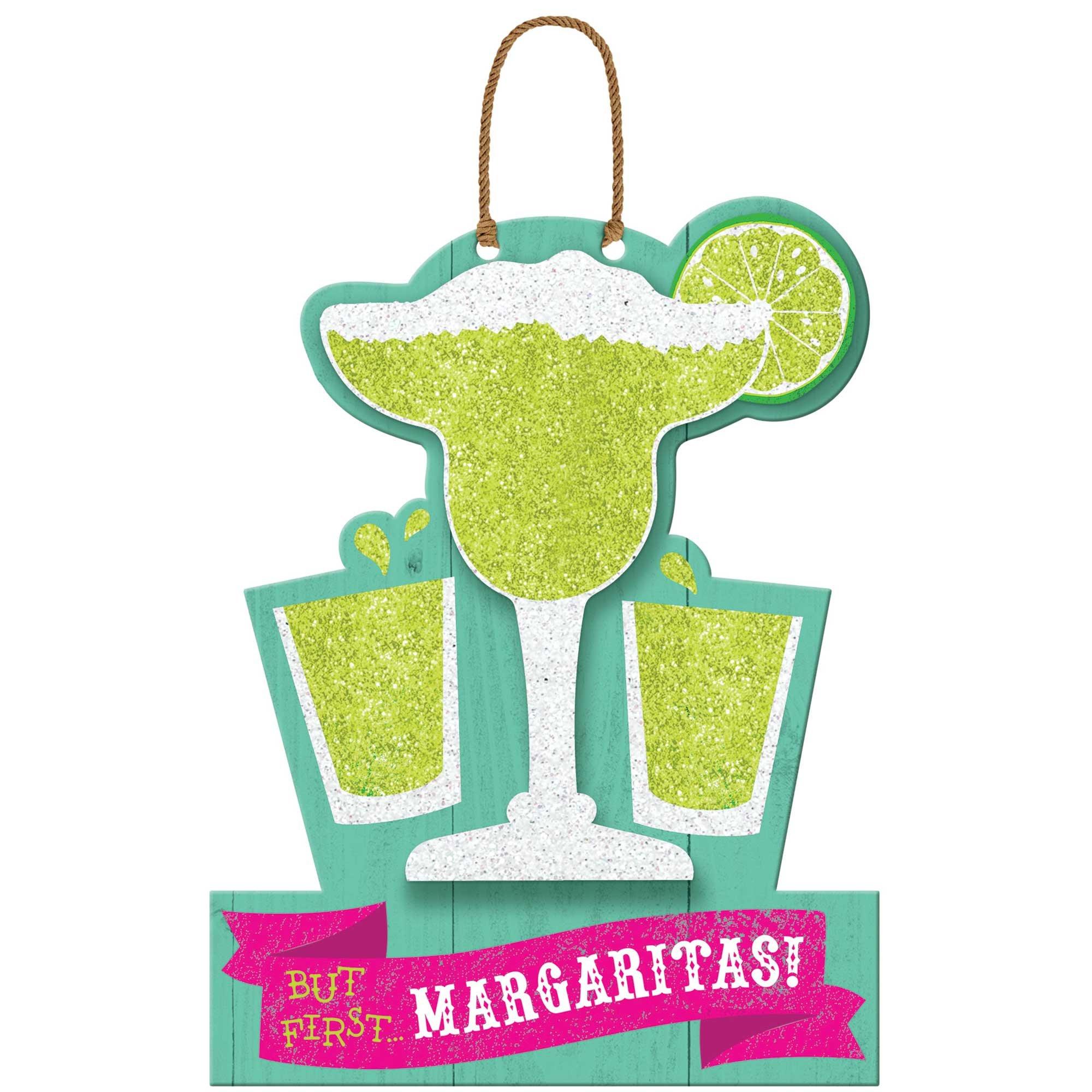 Fiesta But First Margarita's Hanging MDF Sign