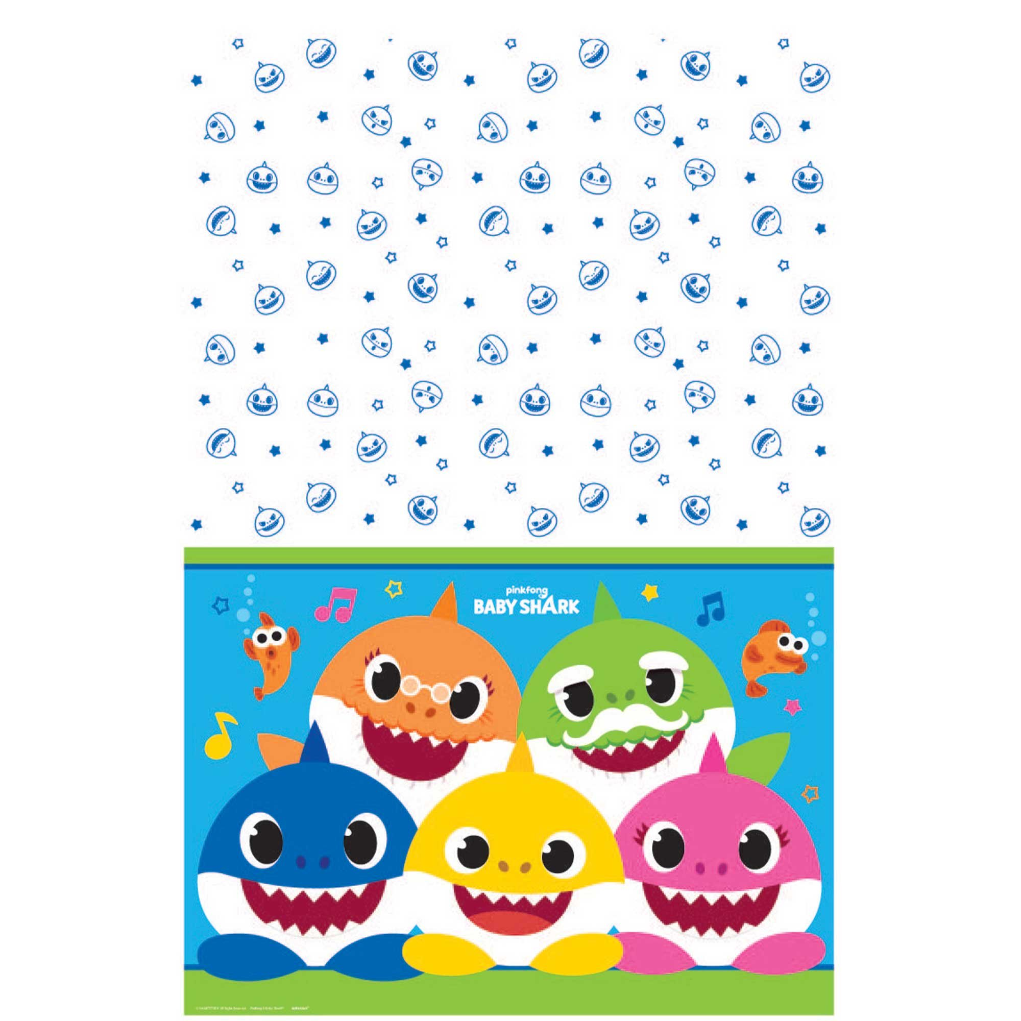 Baby Shark Tablecover Paper