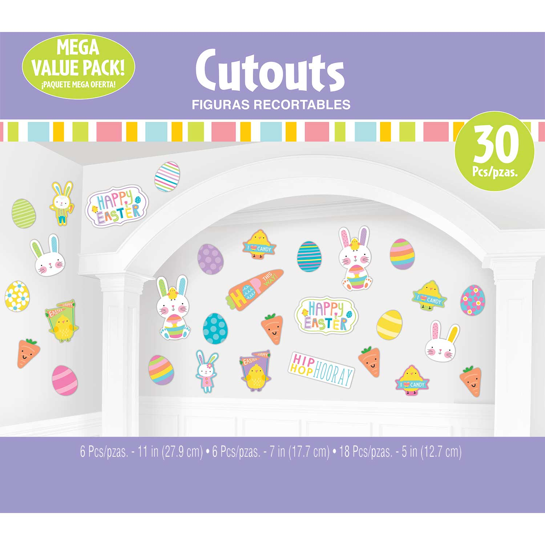 Hello Bunny Happy Easter Cutouts Mega Value Pack