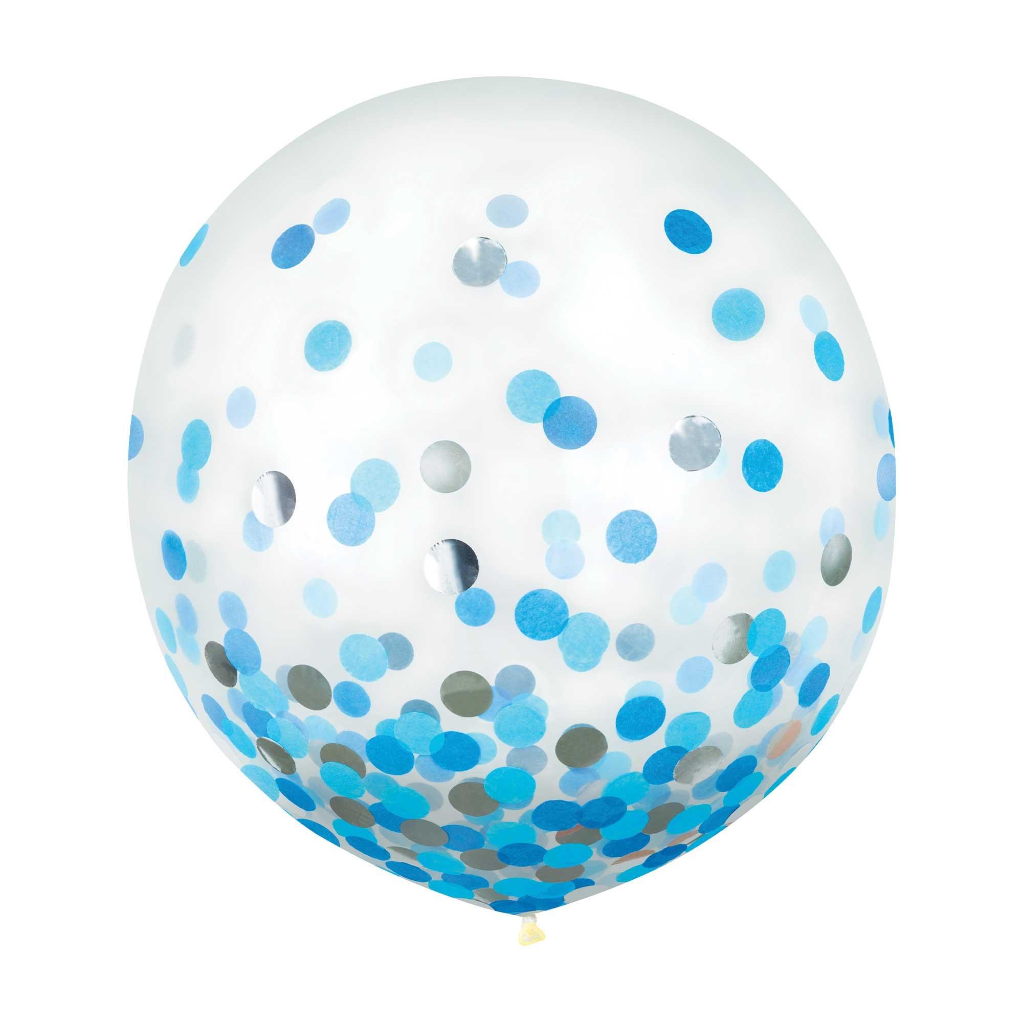 Latex Balloons 60cm & Confetti Multi-Coloured