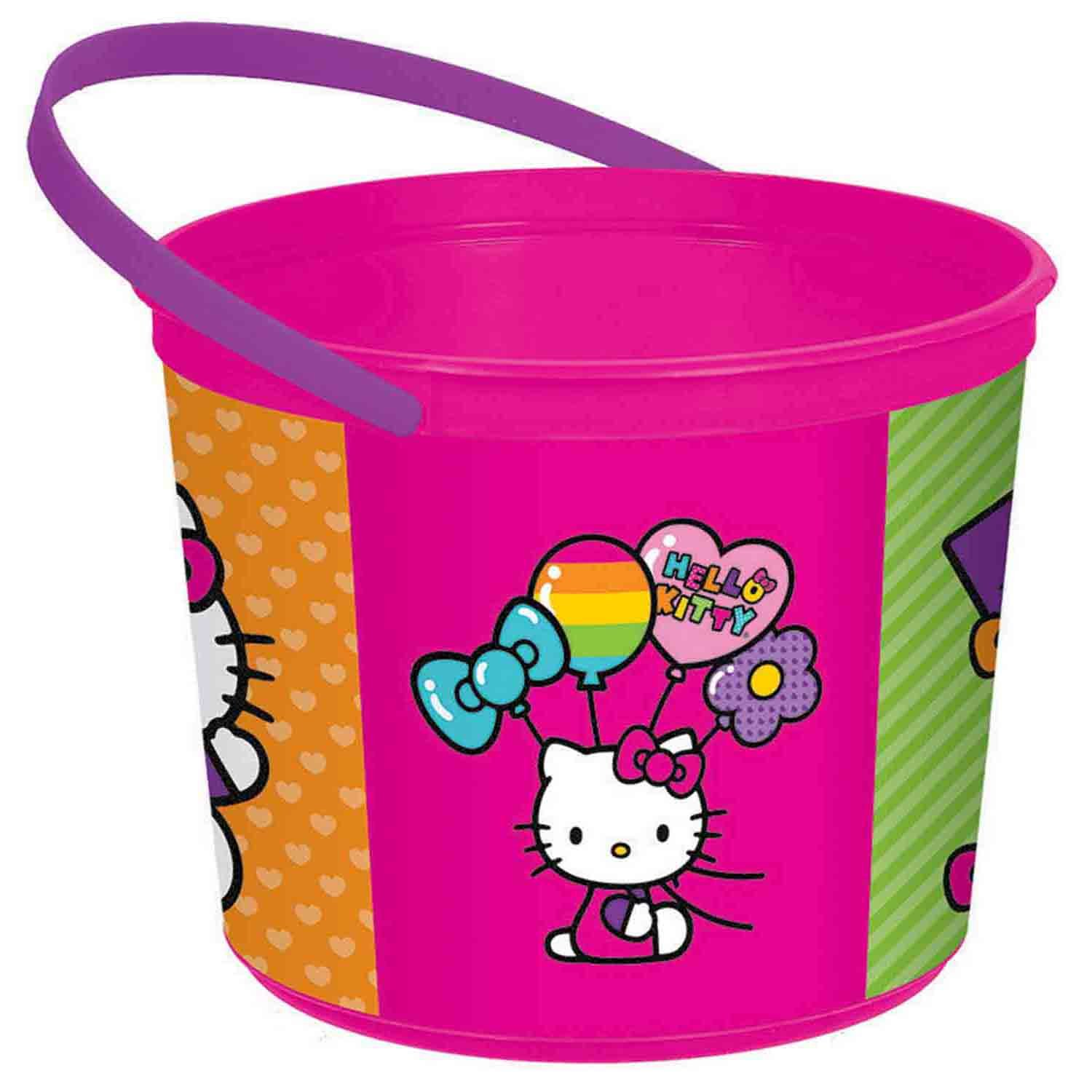 Hello Kitty Rainbow Plastic Favor Container