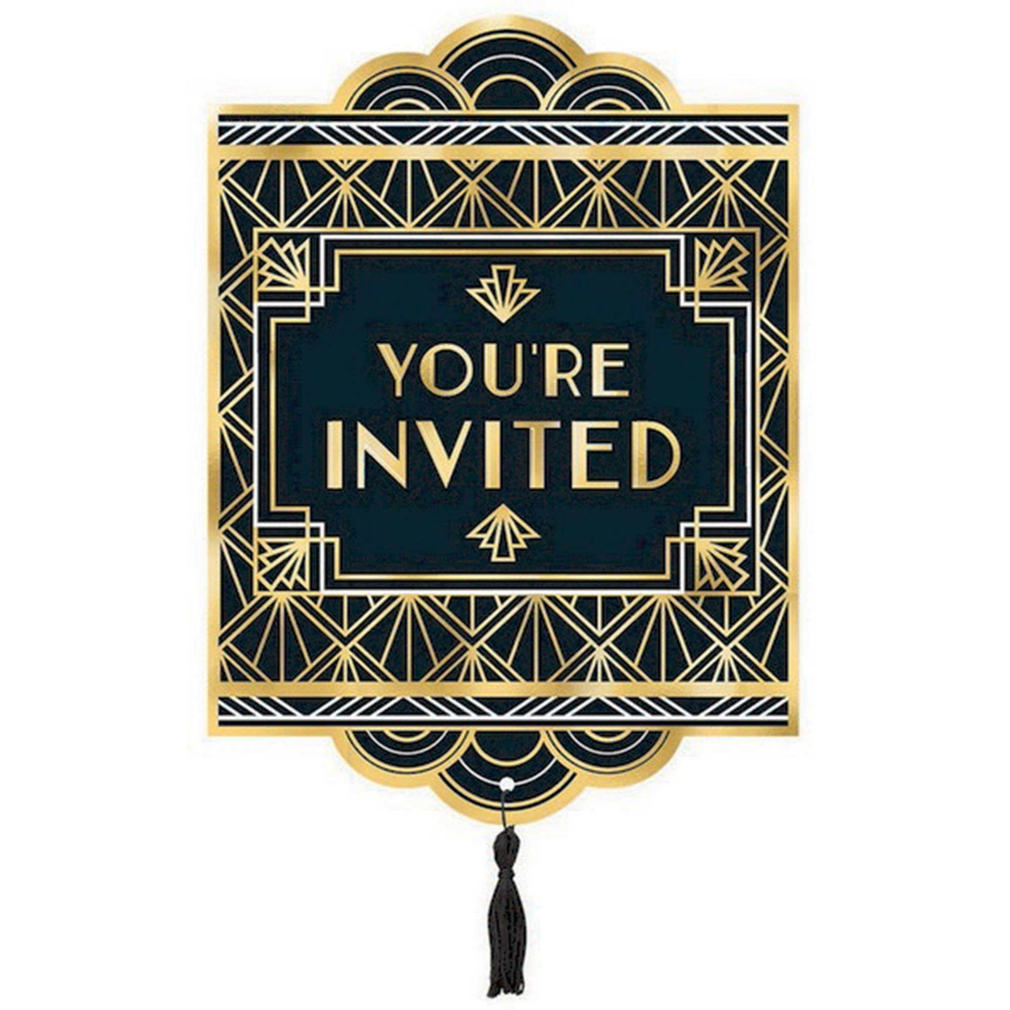 Glitz & Glam Jumbo Deluxe Invitations Foil Hot Stamped