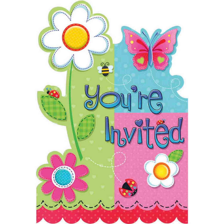 Garden Girl Postcard Invitations