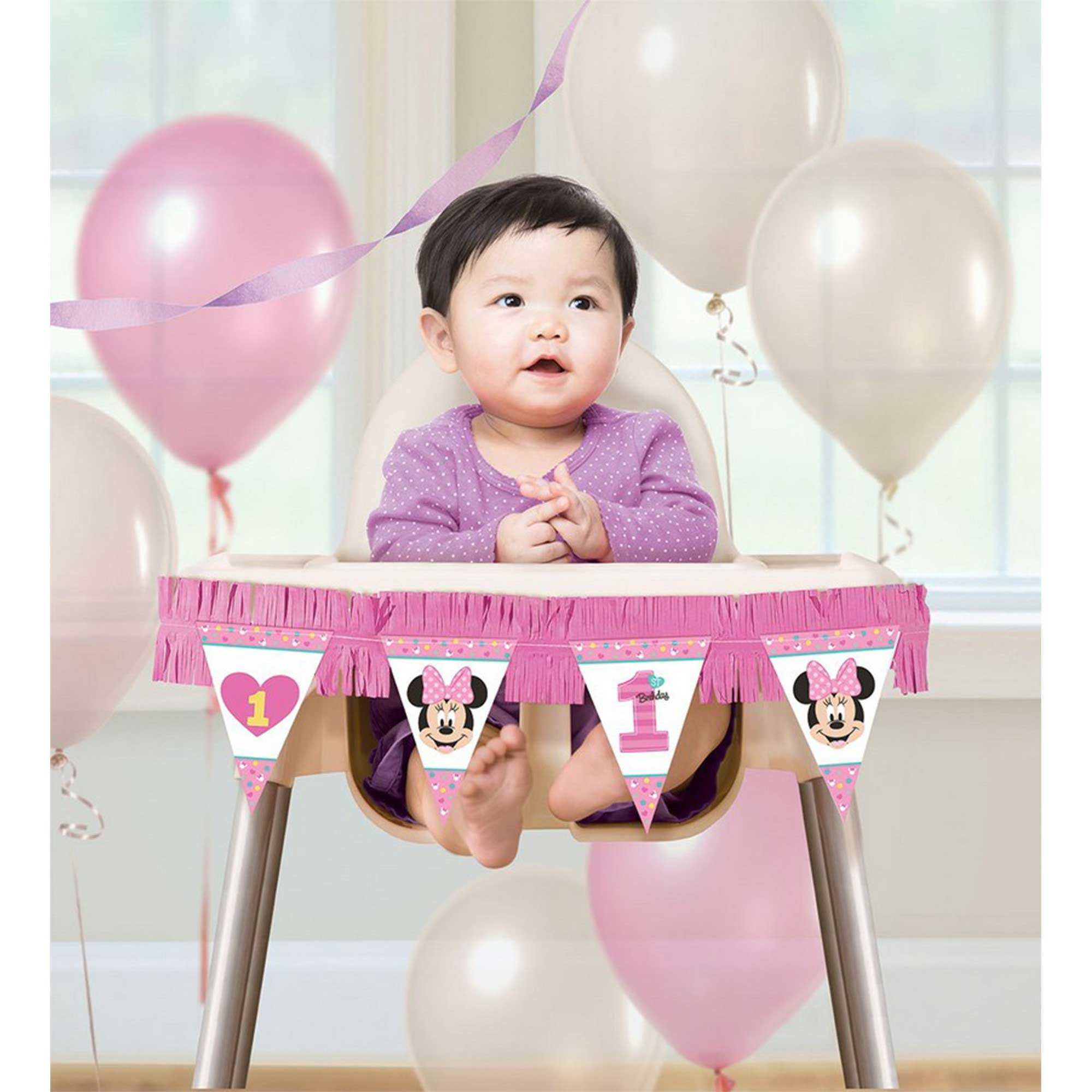 Minnie Fun To Be One High Chair Decorations Kit