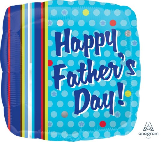 45cm Standard XL Father's Day Dots & Stripes S40