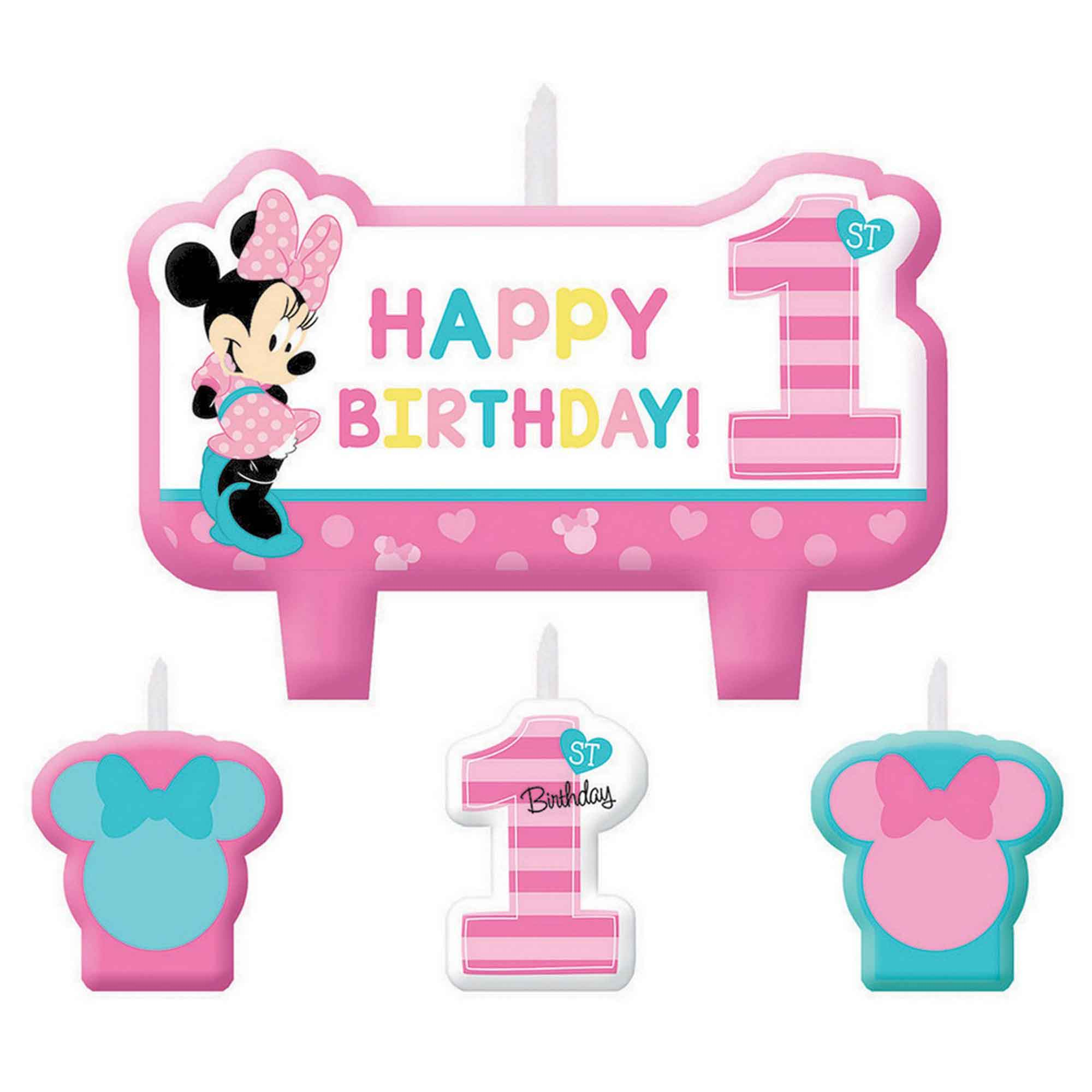 Minnie Fun To Be One Birthday Candle Set