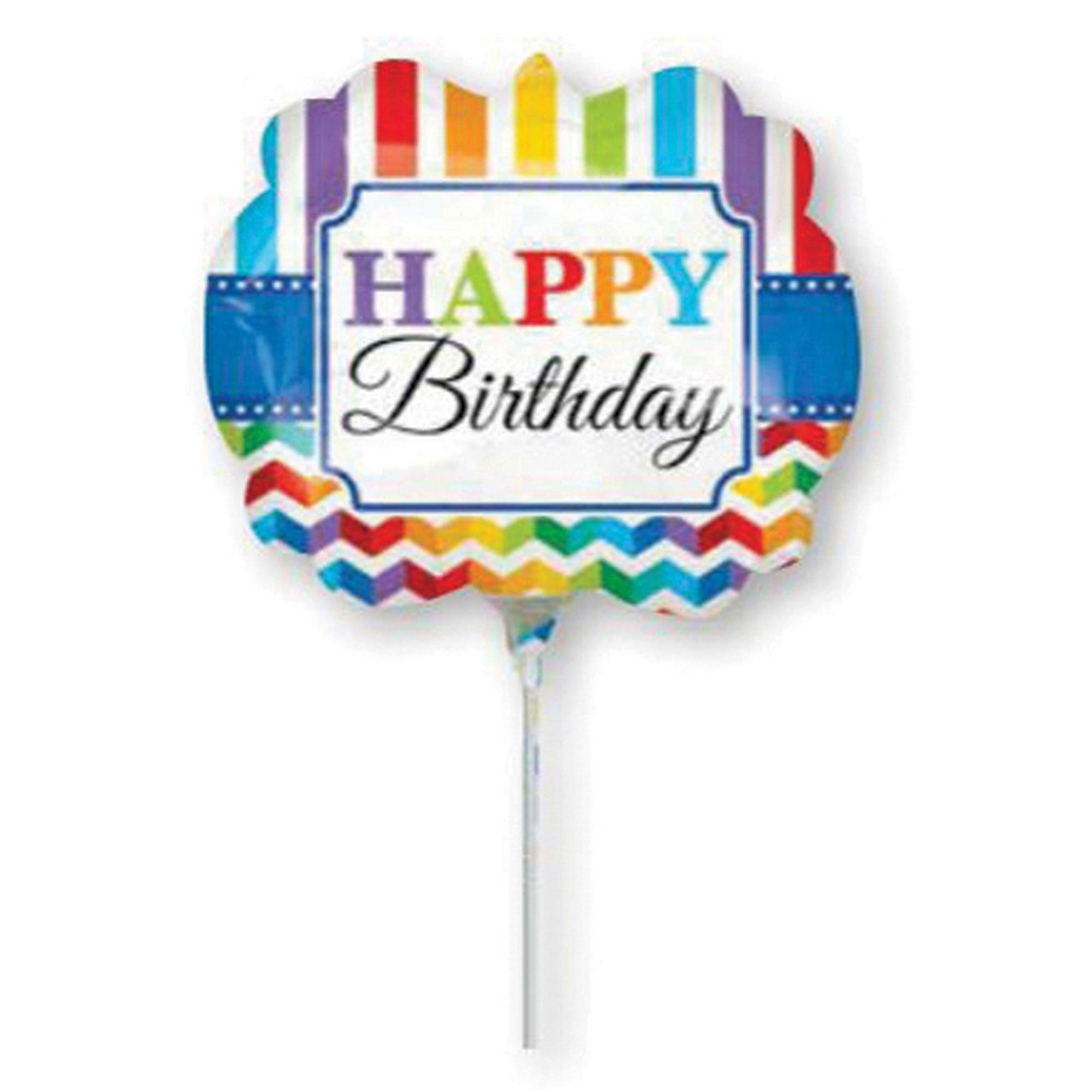 Mini Shape Happy Birthday Bright Stripe & Chevron A30